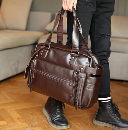 1b70e246d500 Brand Men Bags Fashionable Leisure Men Leather Shoulder BaoHu Large Mens  Leather Bag Outside Tide Joker Brand Men Single Shoulder Bag Luggage Bag  Duffle Bag ...