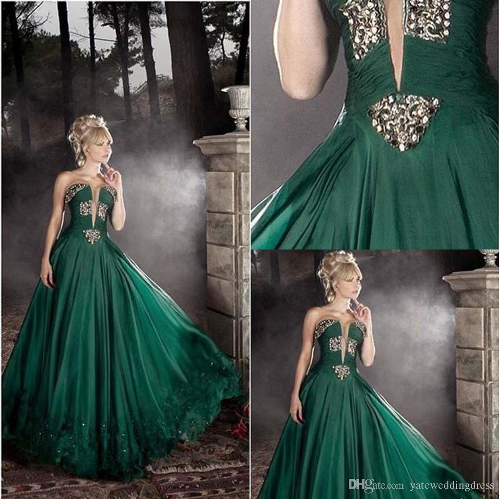 Vintage Evening Dresses Sweetheart Sleeveless Prom Dresses With ...
