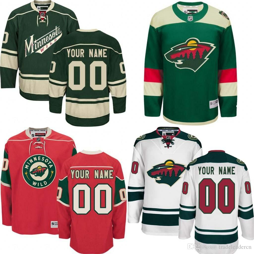 best sneakers d1601 5a64a Customized Men's Minnesota Wild Custom Any Name Any Number Ice Hockey  Jersey,Authentic Jersey Stitched Accept Mix Ord size S-3XL