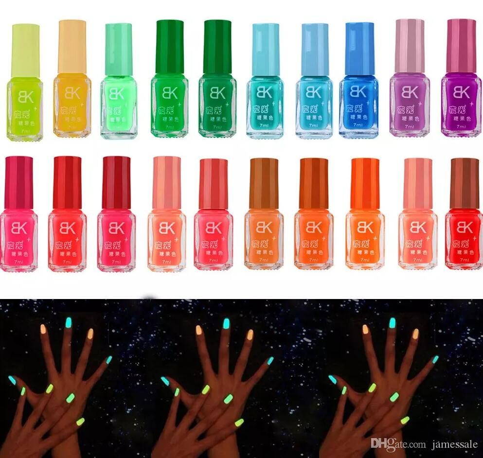 Fashion NEW Luminous Nail Art Polish Varnish Glow in the Dark Nail ...