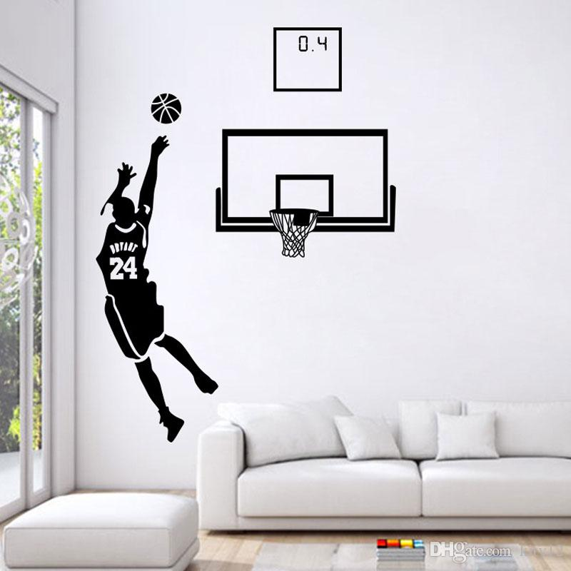 Basketball Men Boys Wall Stickers Sports Wallpaper Wall