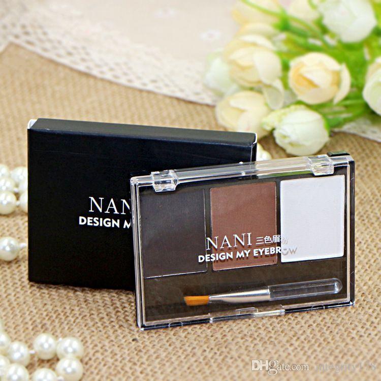 브러시 NANI 6 색 NANI 눈썹 메이크업 팔레트 내 눈썹 48 세트 / 많은 DHL의 자유로운 설계