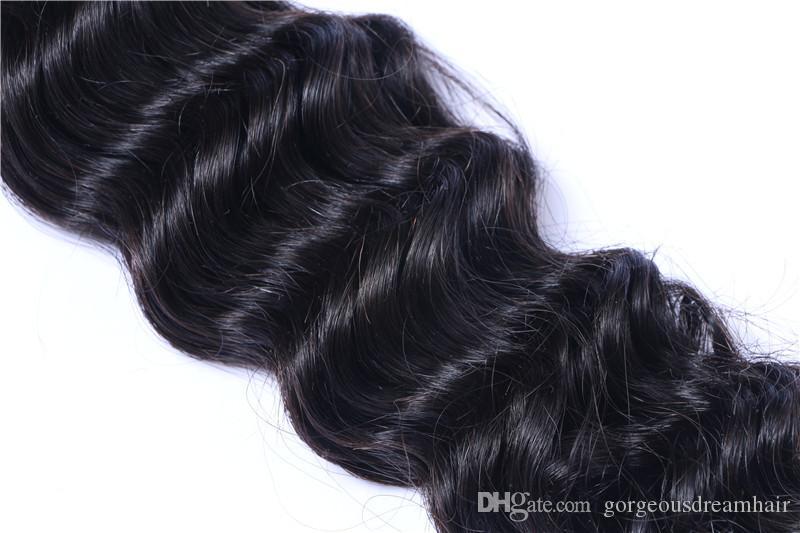 غير المجهزة البرازيلية بيرو الهندية الماليزية الكمبودية الشعر البشري ينسج حزم مستقيم موجة عميقة الشعر ملحقات لحمة
