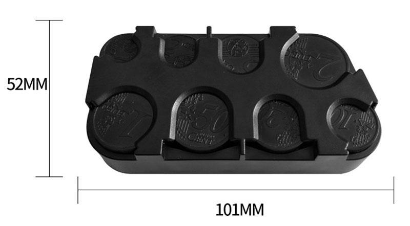 DUNFA Nuevo Llega el almacenamiento de la moneda Nuevo Monedero Euro Dispensador Monedas de Almacenamiento monedero Monederos Caja de Almacenamiento de Plástico