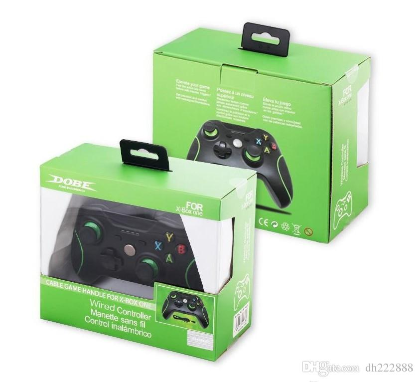 2017 New Black Video Game Wired USB Game Consoles For Microsoft Xbox One Shock Controller With 3.5MM Headset Jack