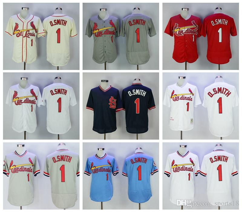 a515090e3 ... 1 ozzie smith jersey st. louis cardinals baseball jerseys cooperstown  flexbase cool base pullover wh