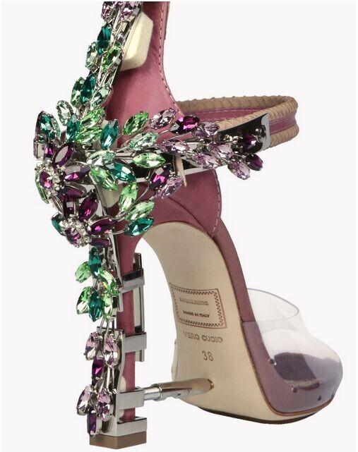 9280de4752 New Arrivals Clear PVC Perspex High Heels Peep Toe Platform Pumps Summer  Luxury Crystal Padlock Women Sandals Party Sexy Ladies Shoes Woman Black  Wedges ...