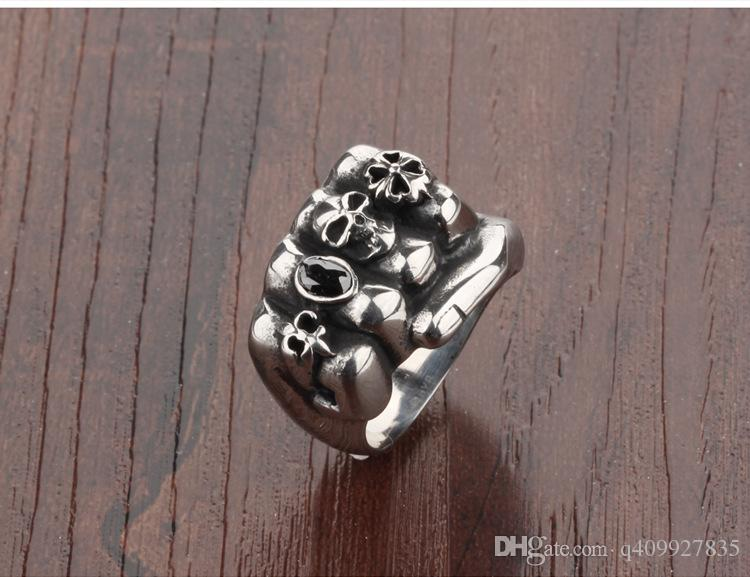 Fashion Day Jewelry Mens Cool Fist Design Ring Boy Punk Band Rock Rings - Suitable for boy friend gift