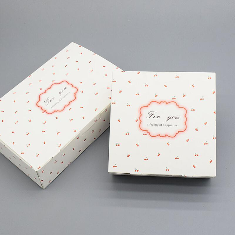 white cherry design mousse packaging box of cookies baking pound