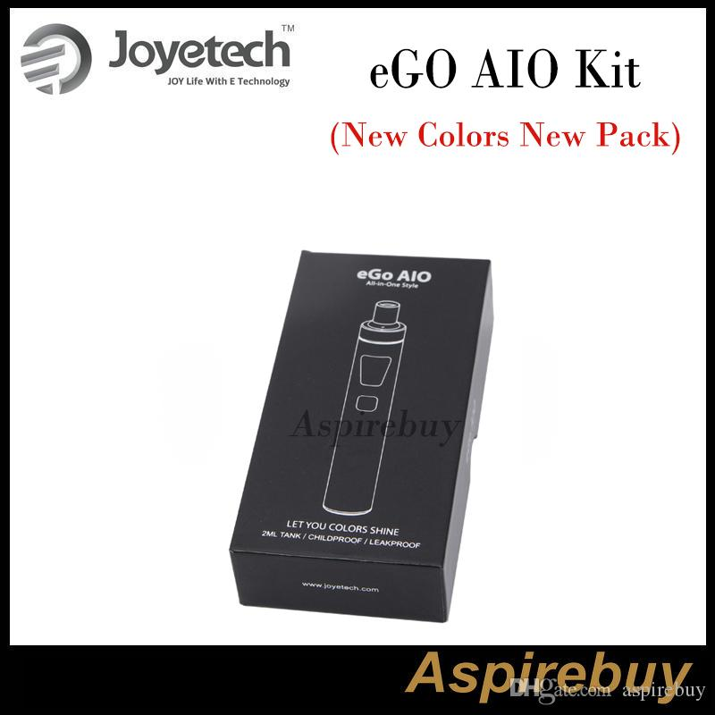 Joyetech EGo AIO Kit All-in-one Style Device with 1500mAh Battery and 2ml e Liquid illumination LED Light 10 New Colors New Pack Authentic