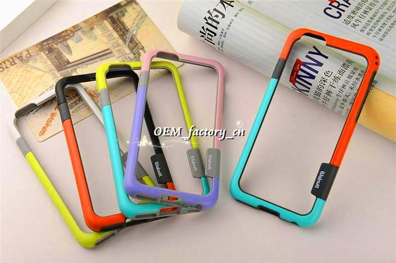Para iPhone 7 Walnutt Zenus Bumper Case 6s Anti-shock TPU PC Frame Protector para 7+ 6plus 5 5s SE Samsung S6 Edge S5 Note5 Note4 Note3