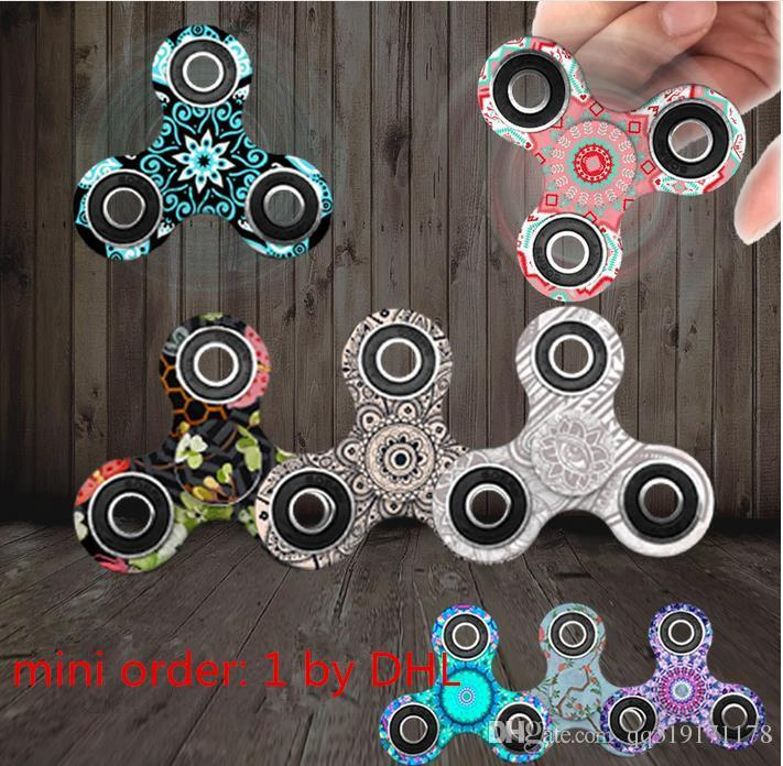 Triangle Mandala Fid Spinner Cube Fid Tri Spinner Toy Stress