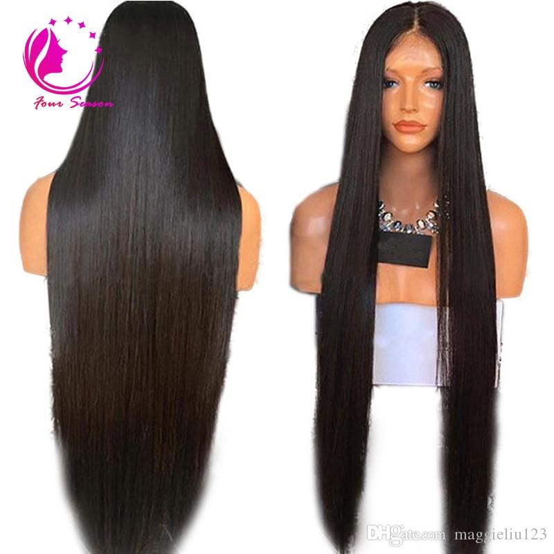 Long Silky Straight Lace Front Wig 30 Inch Human Hair