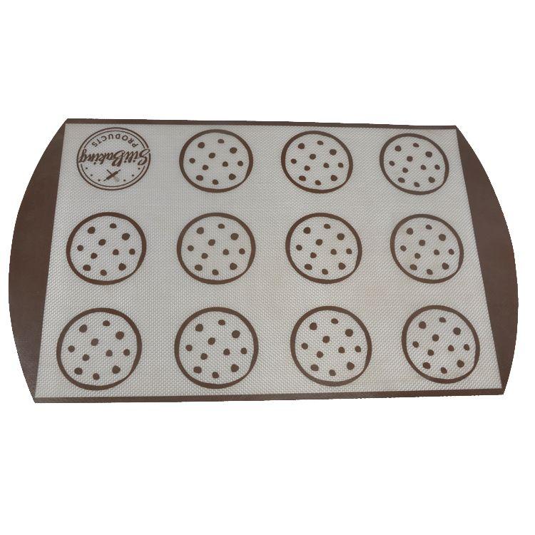 Non Baking Forros de Cozimento de Silicone Esteiras de Cozimento Forno de Cozinhar Folha De Borracha tamanho 19.5 * 11.6 ''