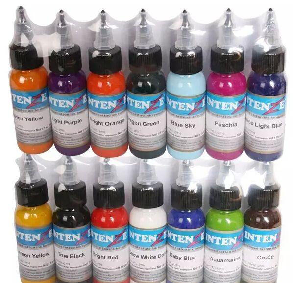 kaş göz kalemi dudak için 14 renk / dövme mürekkebi set pigmentler kalıcı makyaj 30ml kozmetik renk dövme mürekkebi