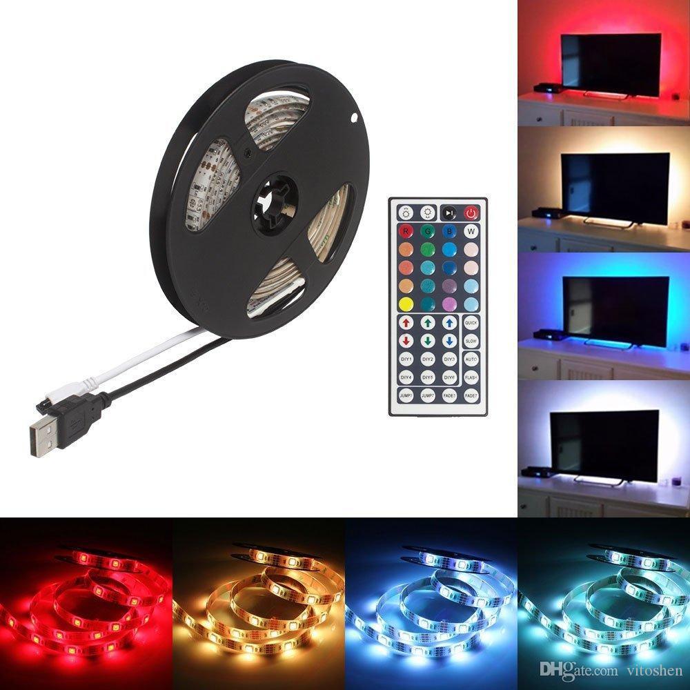 led strip light rgb led rope colour changing usb led tv back light mood light kit with ir remote control best home decor buy decor from vitoshen