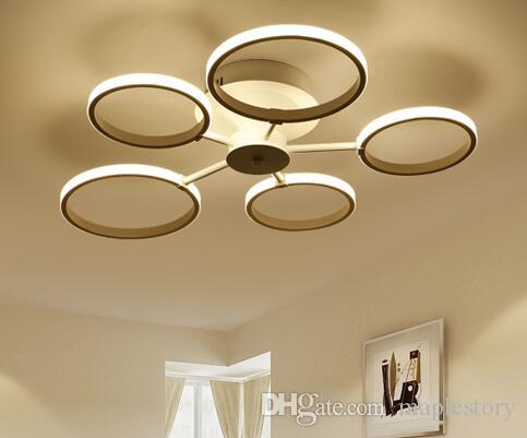 Plafoniere Moderne Led : Acquista plafoniere moderne a led rotonde in alluminio soffitto