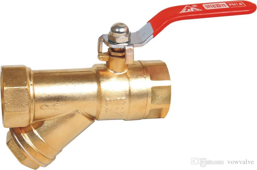2019 Brass Or Nickel Filter Ball Valve For Water Pipe