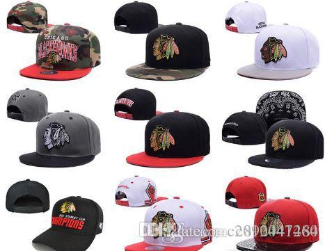 2017 New Style Arrived Chicago Blackhawks Gorras Planas Hat ... 67abba75c117