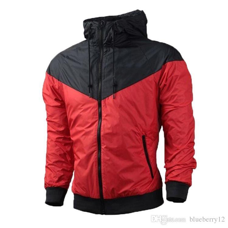 Two Piece of Fall thin windrunner 2017 fashion Men and Women Pullover Hoodies light Windbreak zipper hoodie
