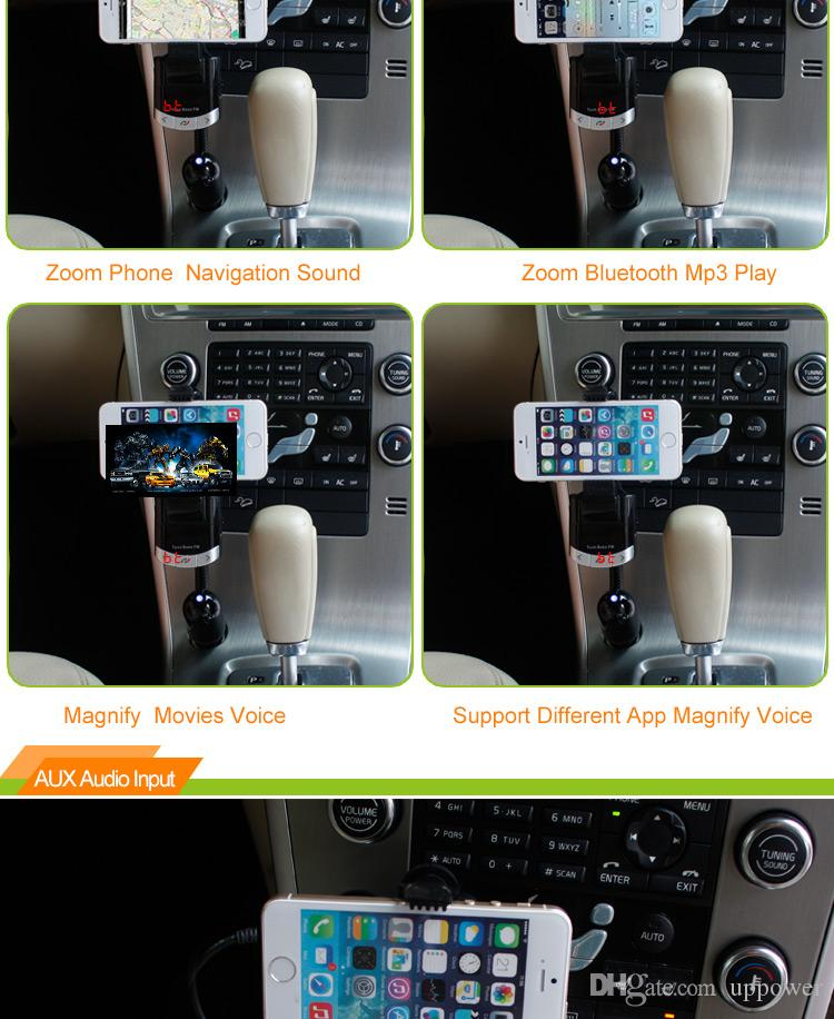 CarBest Bluetooth Wireless FM Transmitter Radio Adapter Handsfree USB Car Charger, MP3 Player Music Control Calling FM8118