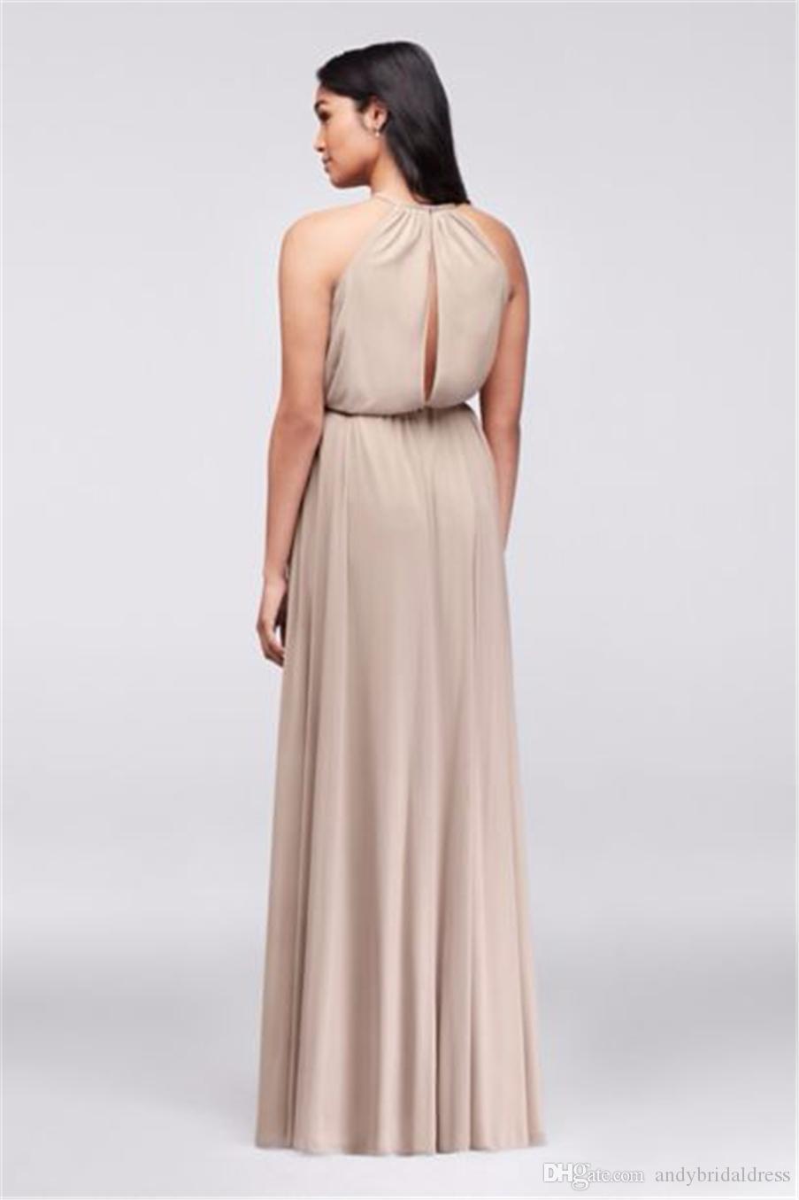 Новый! Мягкий шифон Холтер платье невесты с тонкий пояс F19533 свадебное платье вечернее платье вечерние платья