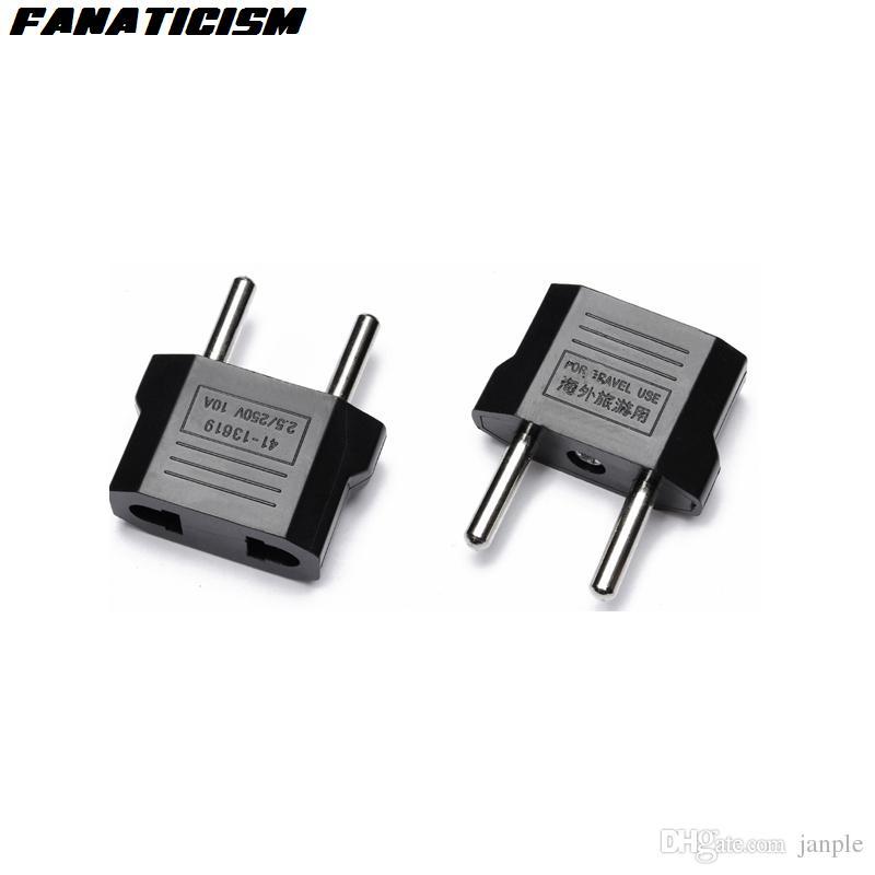 Fanatismo Euroe AC Energia Elétrica Universal Plug Carregador de Viagem Conversor Adaptador US Para Plug Adapter UE Plug Transferência