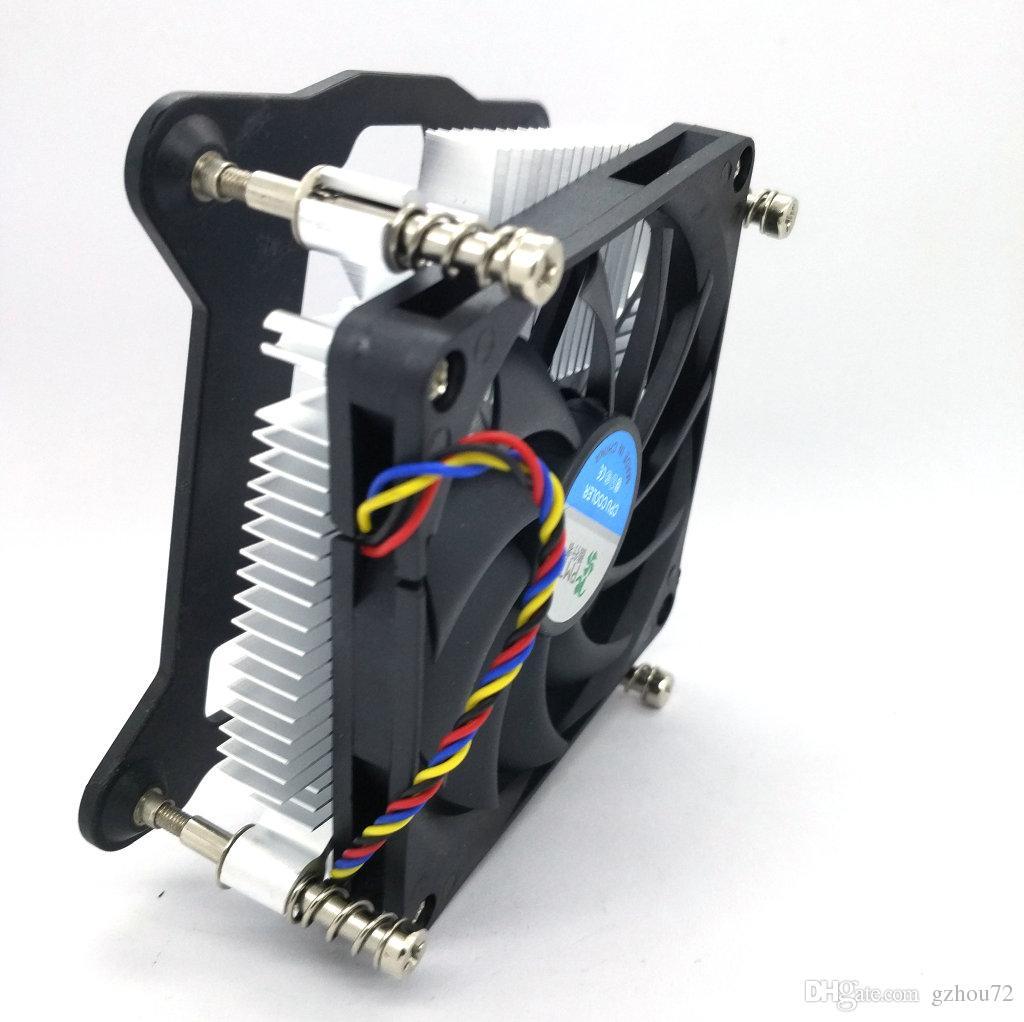 새로운 원본 슈퍼 얇은 1U 1156 1155 구리 코어 CPU 라디에이터 두꺼운 28mm 싱글 볼 침묵 팬