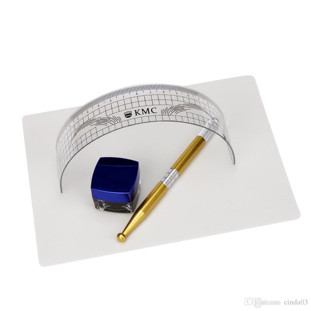 Новое прибытие-перманентный макияж Microblading бровей татуировки комплект ручка иглы пасты кожи правитель G61014 бесплатная доставка