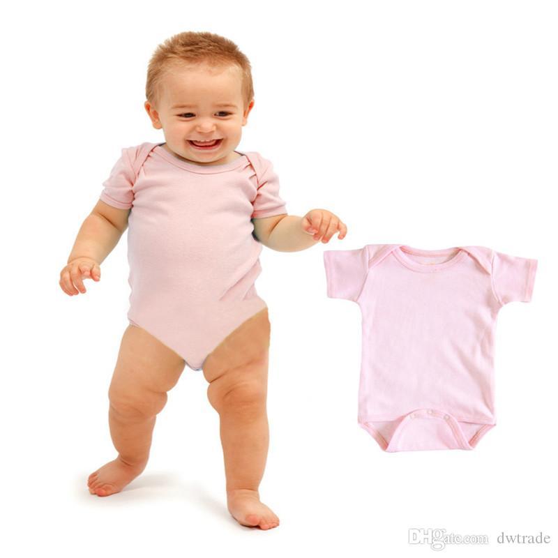베이비 Rompers 정장 여름 유아 트라이앵글 Romper Onesies면 100 % 재고 있음 순수한 흰색 소년 소녀 반팔 아기 복장