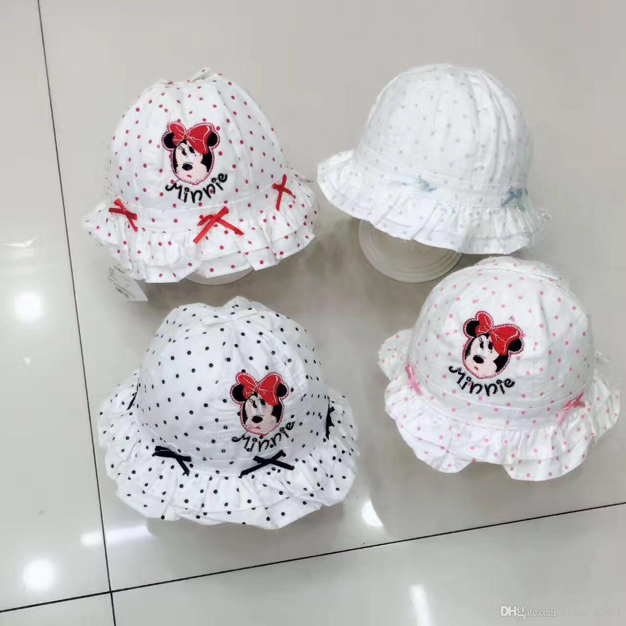 혼합 된 디자인 유아 아기 소녀 Sunhat 모자 모자 태양 모자 / 새로운