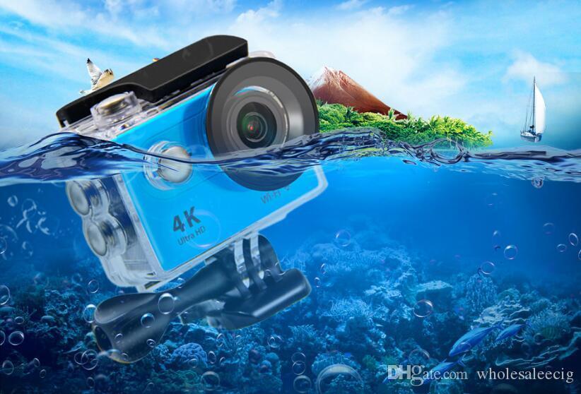 Eken كاميرا عمل عن بعد فائقة الدقة 4 كيلو واي فاي الرياضة كاميرا 1080P / 60FPS 2.0 LCD عدسة 170D خوذة كام الذهاب للماء برو الكاميرا