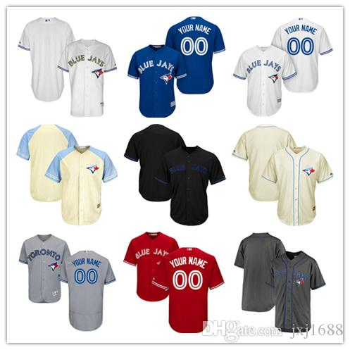 70fae8182 ... Baseball Jerseys Mens Toronto Blue Jays Customized Majestic Blue White  Red Grey Flexbase Cool Base Authentic ...