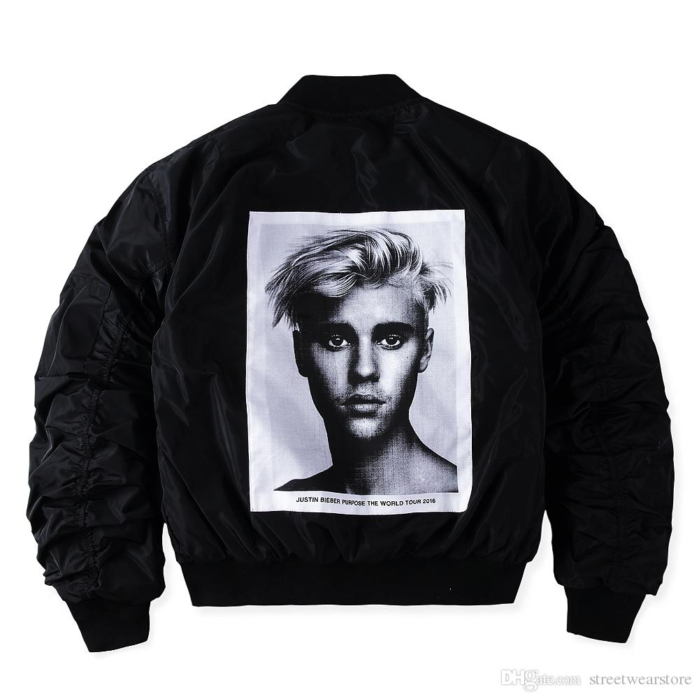 new products ea244 08018 Giubbotto Tour X Alpha MA-1 Uomo Justin Bieber Bomber Jakets Hip Hop Skate  Paura di Dio Kanye Motor Alpha WWII Pilote Veste