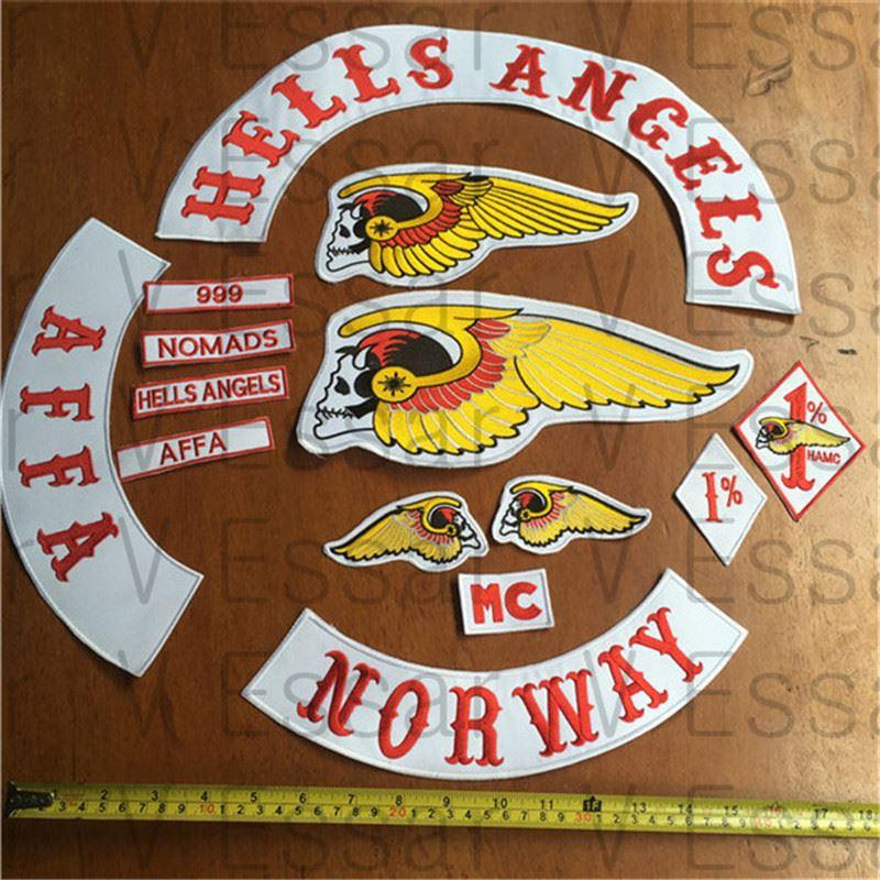 2017 hells angels patch norway embroidered patches armband. Black Bedroom Furniture Sets. Home Design Ideas