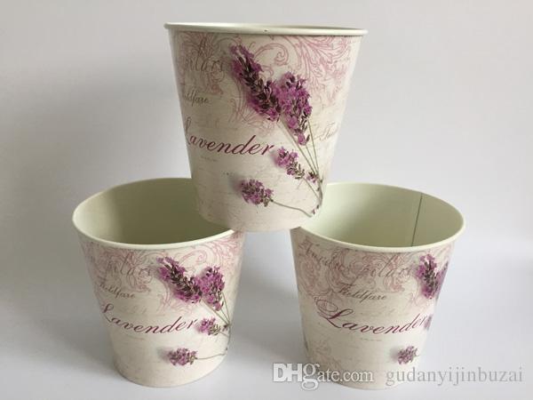 Round Metal Flower Pot Planter Iron flower potes wedding decorative flower pots bonsai pot