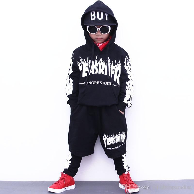 37f5f8746 Boys Sport Suit Autumn Girls Clothing Set School Teenager Boy Dance ...