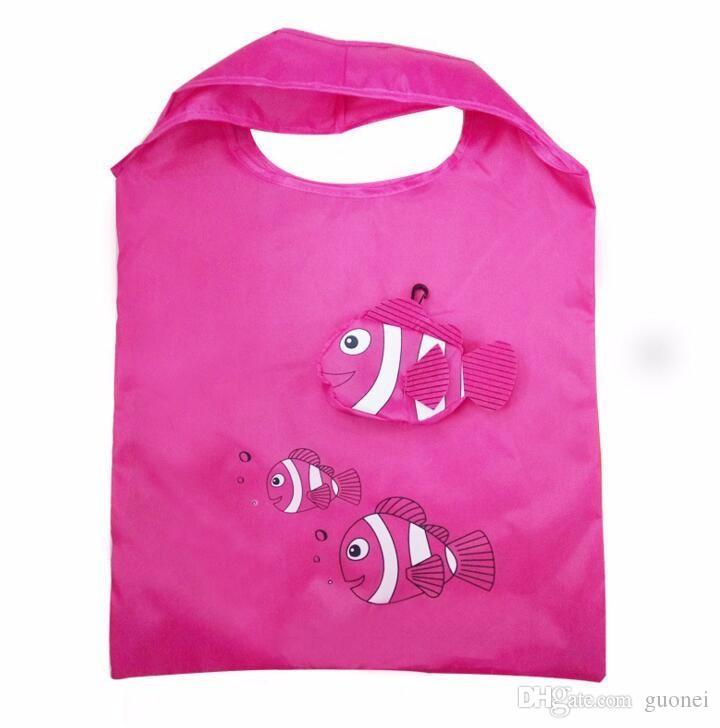 Caldo-vendita mic Nuove molti colori Tropical Fish pieghevole riutilizzabile di Eco signora Shopping Bags 38cm x58cm Borse Valigie hanbags