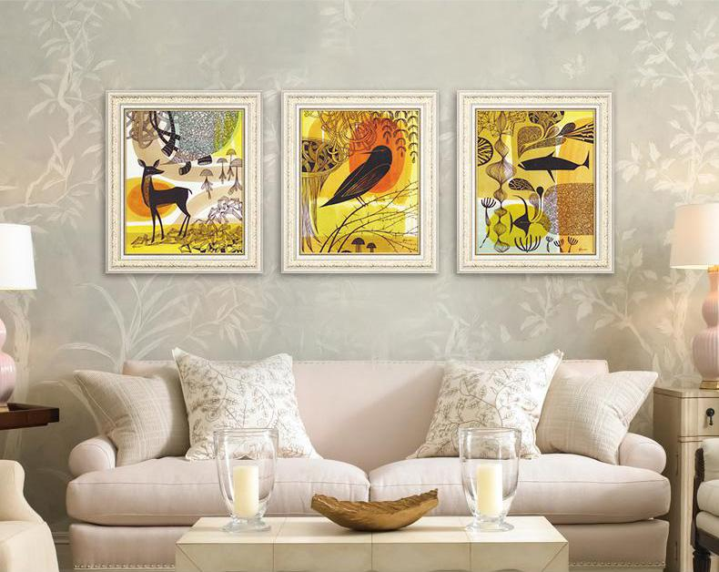 Home Decor Art Interior Design Ideas Oil Painting Eco Friendly Office Hotel  Cafe Porch Living Dining Study Bed Room Murals Group Of 3 Prints