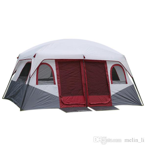 Large Family C&ing Tents Waterproof Cabin Outdoor Tent For 8 10 12 Person Event Marquee Tents Shelter Housing Little Shelter From Melin_li ...  sc 1 st  DHgate.com & Large Family Camping Tents Waterproof Cabin Outdoor Tent For 8 10 ...
