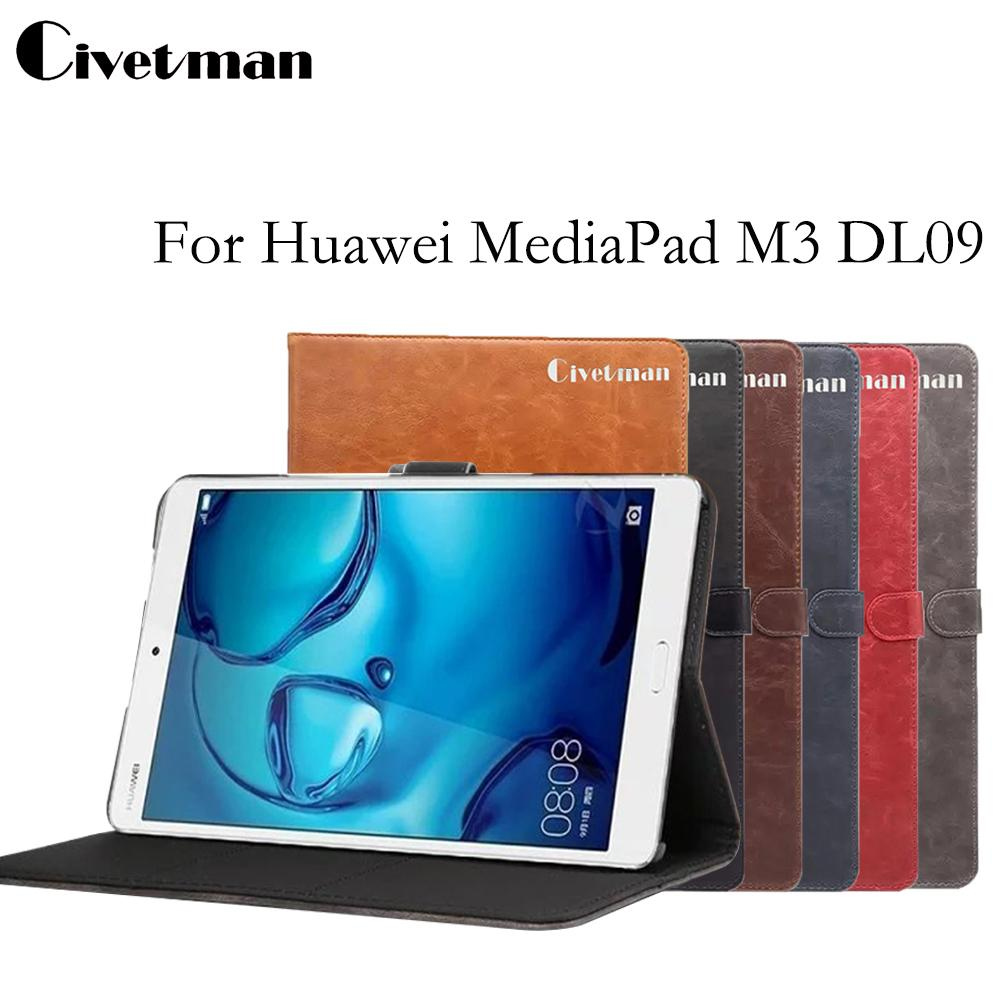 cheap for discount 22353 e3f32 Wholesale- Civetman For Huawei MediaPad M3 DL09 card holder cover case for  Huawei MediaPad M3 8.4