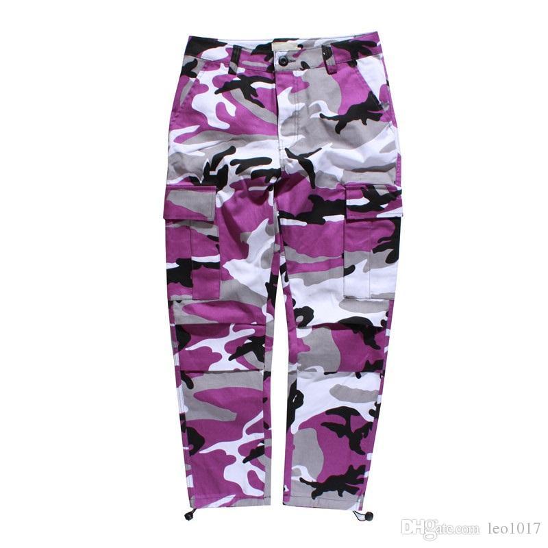 Kamuflaj erkek Kargo Pantolon Tam Uzunlukta 2017 Bahar Multy Camo Hip Hop Pantolon Erkekler Kadınlar Streetwear Toursers Erkekler 8 Renkler