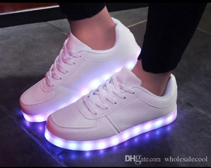 Led Licht Schoenen : 2017 led light up unisex chaussures lumineuse zapatos schoenen white