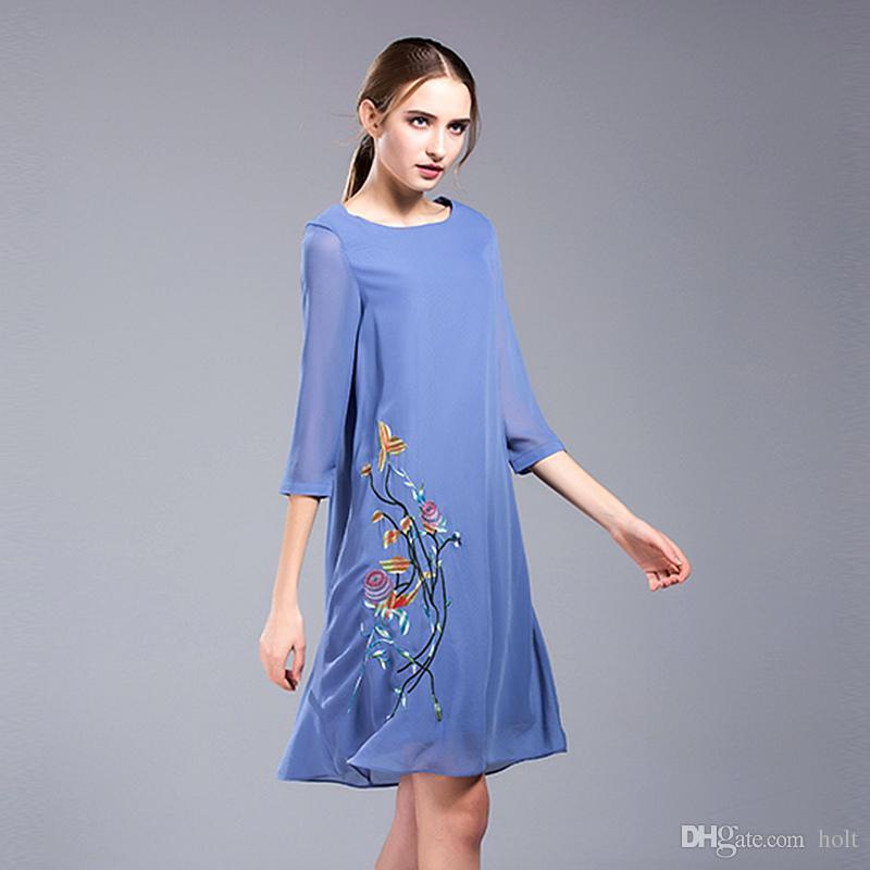 2017 Plus Size 3xl 4xl Casual Dresses Day Sunshine Midi Formal Dress