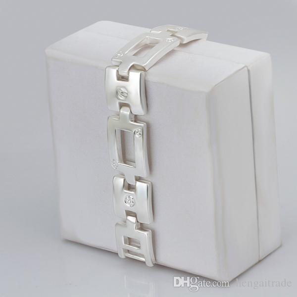 Бесплатная доставка Оптовая стерлингового серебра 925 покрытием Весна кольцо застежки Шарм браслеты LKNSPCH343