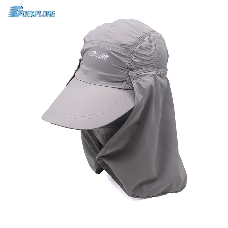 d4781cd2b96 Wholesale Outdoor Hiking Caps 360 Degree Summer Sunscreen Protection Caps  Fishing Bucket Hat For Travel Mountain Climbing Hat For Men UK 2019 From  Monida