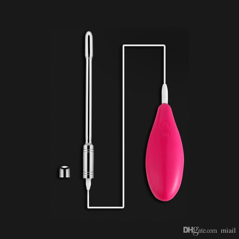 10 fréquences Vibrations Urétral Sonore En Acier Inoxydable Insertion Pénis Sonnant Tige Vibrateur de Sexe Pour Hommes Jouets Érotiques Dilatateur D'urètre
