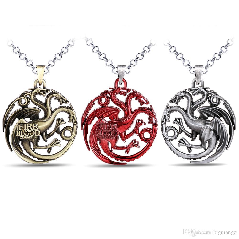 Targaryen Kolye Kostüm Kolye İle İlgilenen Thrones Oyunu