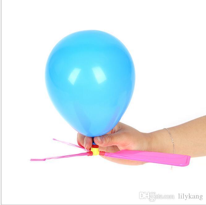 Ballon hélicoptère enfants voler hélicoptère jouet bricolage nouveauté étonnante hélicoptères volant flèche enfants en hélicoptère ballon auto-combiné jouets