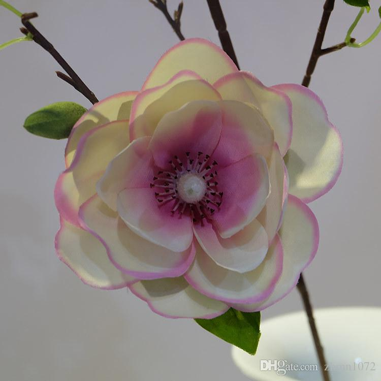 Retro yulan simülasyon çiçek bitki çiçekler, düğün malzemeleri toptan ev dekorasyon sanat ve el sanatları